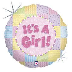 """Круг 18"""" GRABO-ГР It's a Girl - разноцветные квадраты (УП)"""
