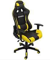 Кресло компьютерное эргономичное игровое бюджетное из кожзама до 120 кг