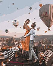 Картина по номерам Rainbow Art Внезапная встреча GX40862-RA Пейзаж Природа Воздушные шары  Св Валентина