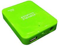 Универсальное зарядное устройство Power bank ОЕМ 4xАА (зеленый)