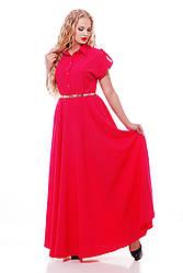 Роскошное платье макси в пол  Алена малина (хлопок)