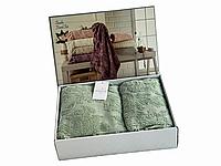 Набор полотенец Maison D'or Sanda Jacquard Sage махровые 50-100 см,85-150 см оливковые