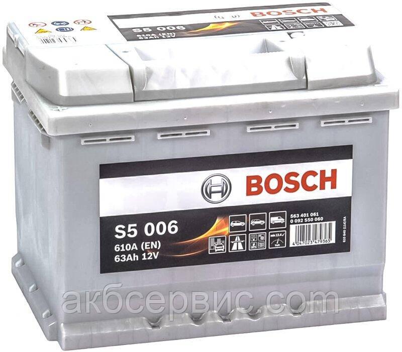 Аккумулятор автомобильный Bosch 6СТ-63 S5 Silver Plus (S50 060)