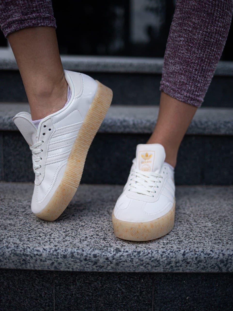 Жіночі кросівки Adidas Samba White GUM