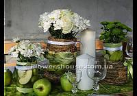Оформление свадьбы в эко стиле. Свадебная арка, оформление зала  цветами.