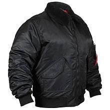 Куртка Chameleon CWU з хутряним коміром (р. 44-46), чорна