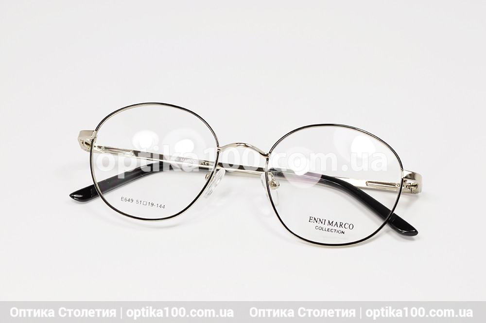 Кругла оправа для окулярів. Металева
