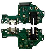 Нижня плата Huawei Honor 8X (JSN-L21)з конектором зарядки + мікрофон + компоненти