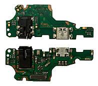 Нижняя плата Huawei Mate 10 Lite RNE-L01 / RNE-L21 с конектором зарядки + микрофон + компоненты