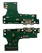 Нижня плата Huawei Y6 (2019) з конектором зарядки + мікрофон + компоненти