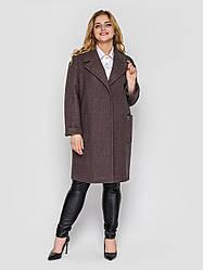 Пальто женское  свободного стиля Алсу мокко