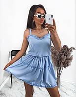 Женское летнее платье-сарафан на тонких бретелях, фото 1