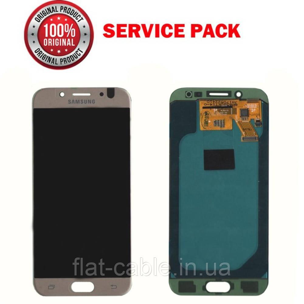 Дисплей + сенсор Samsung J530 2017 J5 PRO Золотистий Оригінал 100% SERVICE PACK GH97-20738C