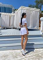 Жіночий літній прогулянковий костюм з укороченим топом і шортами (Норма), фото 6