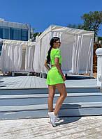 Жіночий літній прогулянковий костюм з укороченим топом і шортами (Норма), фото 8