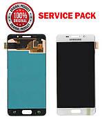 Дисплей + сенсор Samsung A310F, A310M, A310Y A3 2016 Білий Оригінал 100% SERVICE PACK GH97-18249A