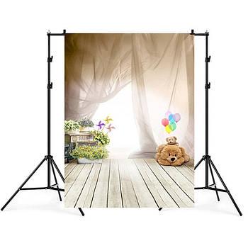 1.5м x 2.1м  Сюжетный фотофон с принтом для детской фотозоны, фотозона для детей, винил