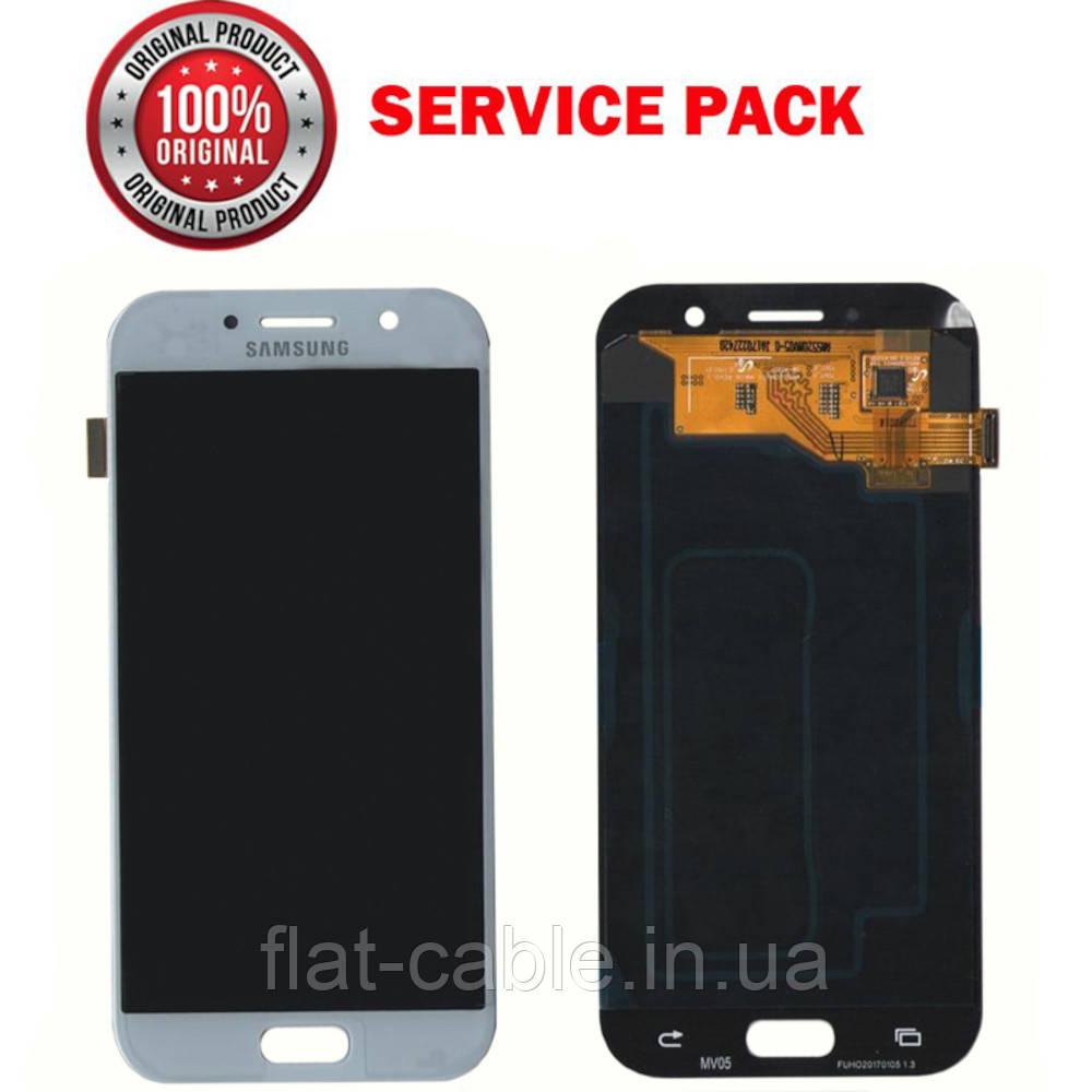 Дисплей + сенсор Samsung A520 2017 Сріблястий Оригінал 100% SERVICE PACK GH97-19733С