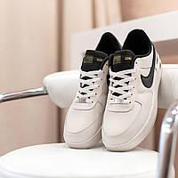 Мужские кроссовки Nike Air Force бежевые Gore-Tex и Air Technology