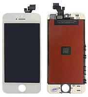 Дисплей (модуль) iPhone 5 з сенсором білий Original (PRC)