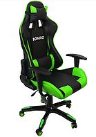 Кресло компьютерное из кожзама эргономичное геймерское бюджетное до 120 кг