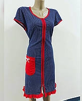 Женский трикотажный халат на молнии Танечка