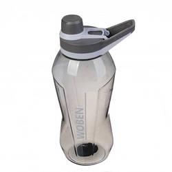 Спортивна пляшка для води Woben 67-751, 1500 мл, чорна