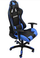 Эргономичное компьютерное кресло игровое из кожзама с высокой спинкой и до 120 кг