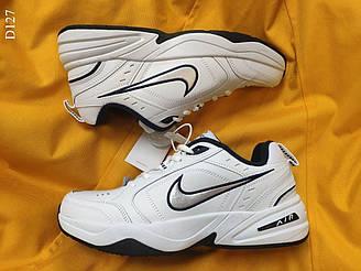 Мужские кроссовки Nike Air Monarch IV (бело-синие) стильная обувь для парней D127