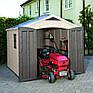 Пластиковый сарай для сада 257x332x243 см. серо-коричневый Израиль 590647, фото 8