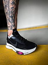 Чоловічі кросівки Nike Air Zoom-Type (чорно-білі) модне літнє взуття К4120