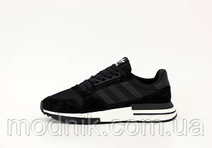 Чоловічі кросівки Adidas ZХ 500 (чорні) молодіжна стильне взуття К12193