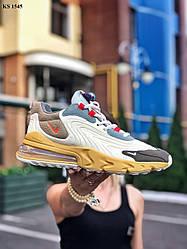 Мужские кроссовки Travis Scott x Nike Air Max 270 React (цветные) KS 1545 модные молодежный кроссы