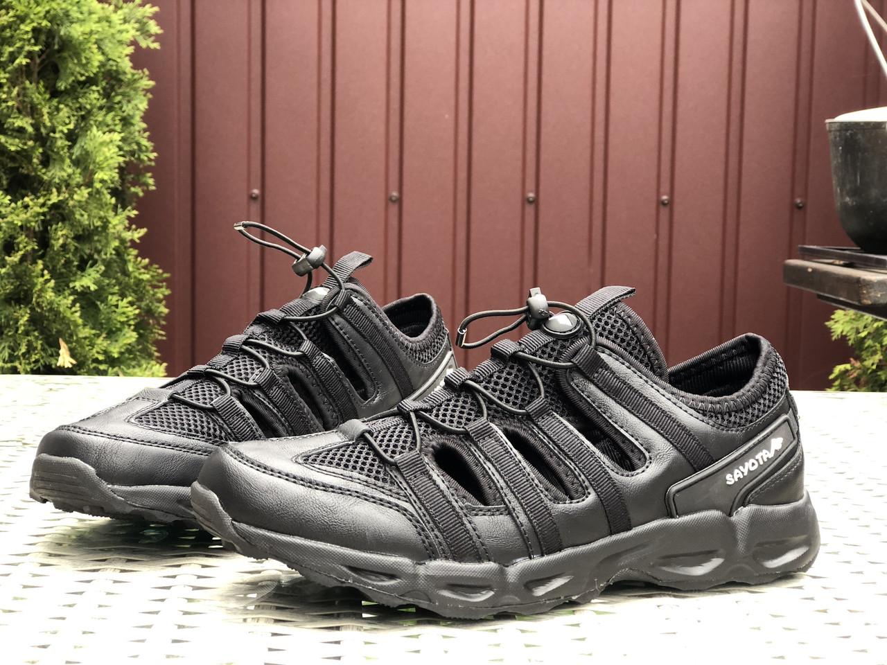 Чоловічі сандалі Sayota (чорні) B10530 крута м'яка якісна літні взуття