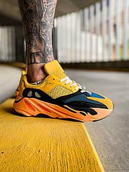Мужские кроссовки Adidas Yeezy Boost 700 Sun (желтые) К4124 комфортные крутые кроссы
