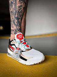 Мужские кроссовки Nike React 270 (белые с черно-красным) К4125 качественная стильная обувь