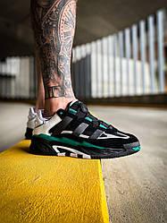 Мужские кроссовки Adidas Niteball (черные) К4126 качественные стильные кроссы