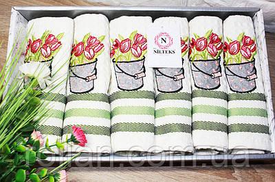 Набір кухонних рушників Тюльпан 6ка