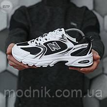 Чоловічі кросівки New Balance 530 abzorb (біло-чорні) 657TP стильні якісні кроси