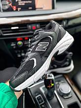 Чоловічі кросівки New Balance 530 abzorb (чорні з білим) 658TP модні якісні кроси