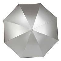 Зонт-трость полуавтомат серебристый, золотистый, двухцветный