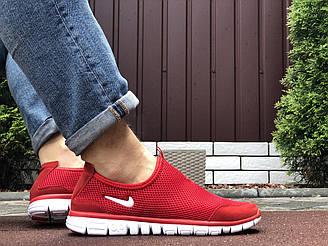 Мужские кроссовки Nike Free Run 3.0 (красные) B10547 молодежная крутая обувь