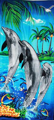 Пляжное полотенце Дельфин