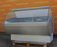 Холодильная универсальная витрина «Технохолод Каролина» 1.6 м. (Украина), широкая выкладка 75 см., Б/у