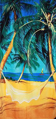 Пляжное полотенце Пальма