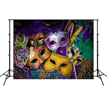 1.5 м x 2,1 м Сюжетний фотофон з принтом для карнавальної фотозоні, фотозоні на свято, вініл