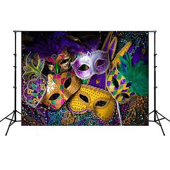 1.5м x 2.1м  Сюжетный фотофон с принтом для карнавальной фотозоны, фотозона на праздник, винил