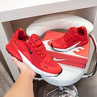Кроссовки Nike Air Max 270 мужские повседневные красные Найк Аир Макс сетка