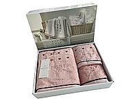 Набор полотенец Maison D'or Candy Rosa махровые 32-50 см,50-90 см,70-140 см розовые