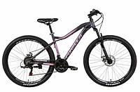 """Горный женский велосипед FORMULA MYSTIQUE AL 1.0 AM DD 27.5""""(серо-фиолетовый с черным), фото 1"""